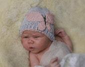KNITTING PATTERN baby beanie Butterfly (newborn/3-6m/1y sizes)