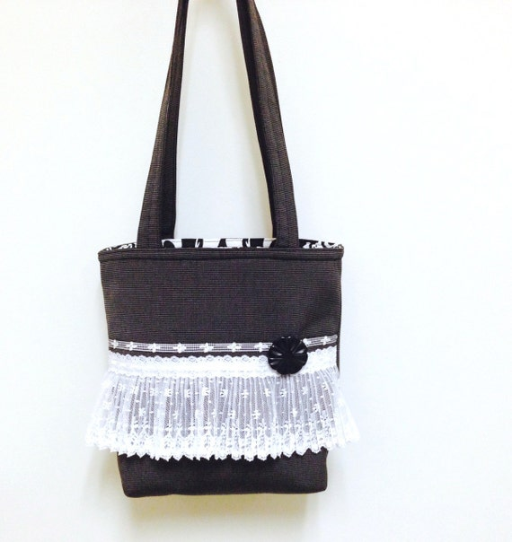 Lace handbag black,Lace purse black,Lace shoulder bag,Romantic lace purse,Romantic black bag,Lace tote black,Black tote lace,romantic chic