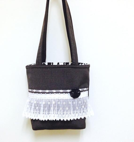 Lace handbag black,Lace purse black,Lace shoulder bag,Romantic lace purse,Romantic black bag,Lace tote black,Black tote lace,romantic chic