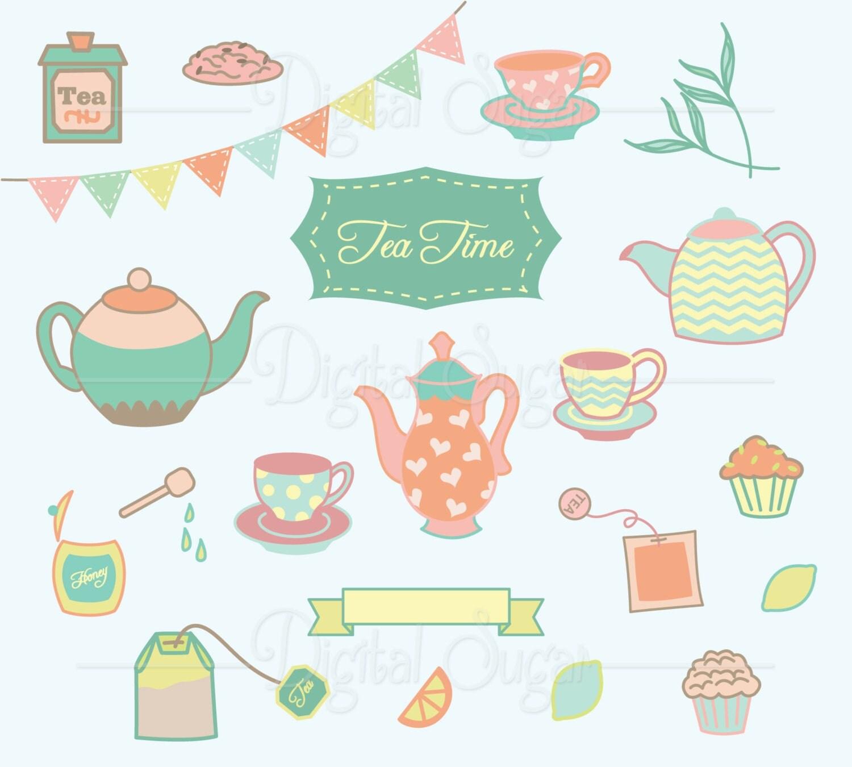 clipart tea party invitation - photo #10
