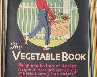 The Vegetable Book 1928 Woman's World Magazine Co. Inc. Illustrated rare Black American Cover Pristine Condition