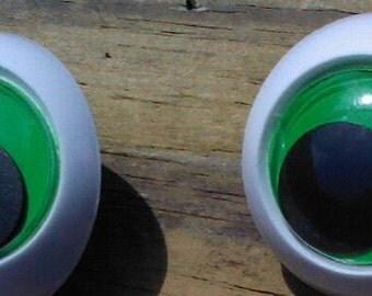 Frogs eyes,Dolls eyes,Wiggly eyes,35 mm 1 pair