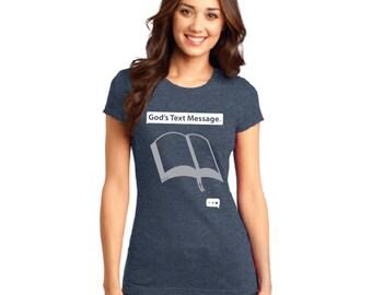 God's Text Message Womens Christian Tshirt