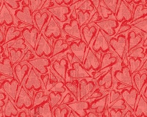 Valentines Fabric, All My Heart Fabric, Clothworks Y1565-40 Iron Orchid Designs, Valentines Day Fabric, Love Fabric, Red Cotton Quilt Fabric