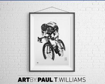 Mark Cavendish art print poster cycling gift