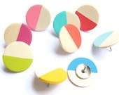 Color-Dipped Thumb Tacks / Choose Your Color! / Office Decor / Cubicle Decor / Dorm Accessories / Coworker Gift / Bulletin Board Pins