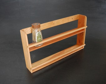Handmade Hardwood Spice Shelf Kitchen Organizer Made from Beautiful Wood in Vermont Spice Rack Spice Storage
