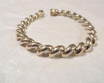 Spiral Link Sterling Silver Bracelet