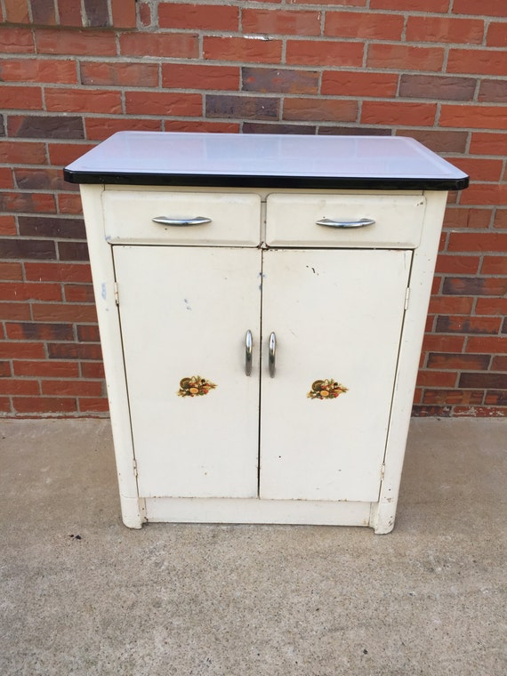 antique metal kitchen cabinet vintage mid century metal kitchen cabinet porcelain by 10663