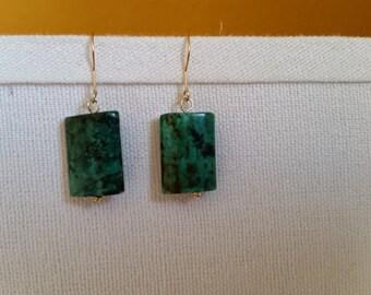 Turquoise Earrings, Turquoise Earings, Turquoise Earrings Gold, African Turquoise, Gold Turquoise Earrings, Green Turquoise Earrings