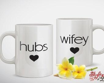 Hubs and Wifey Anniversary Coffee Mug