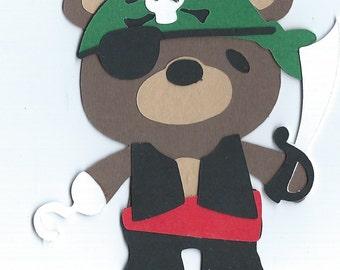 Teddy Bear Pirate Die Cut
