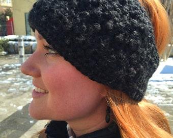 Crocheted Cross-Stitch Ear Warmer