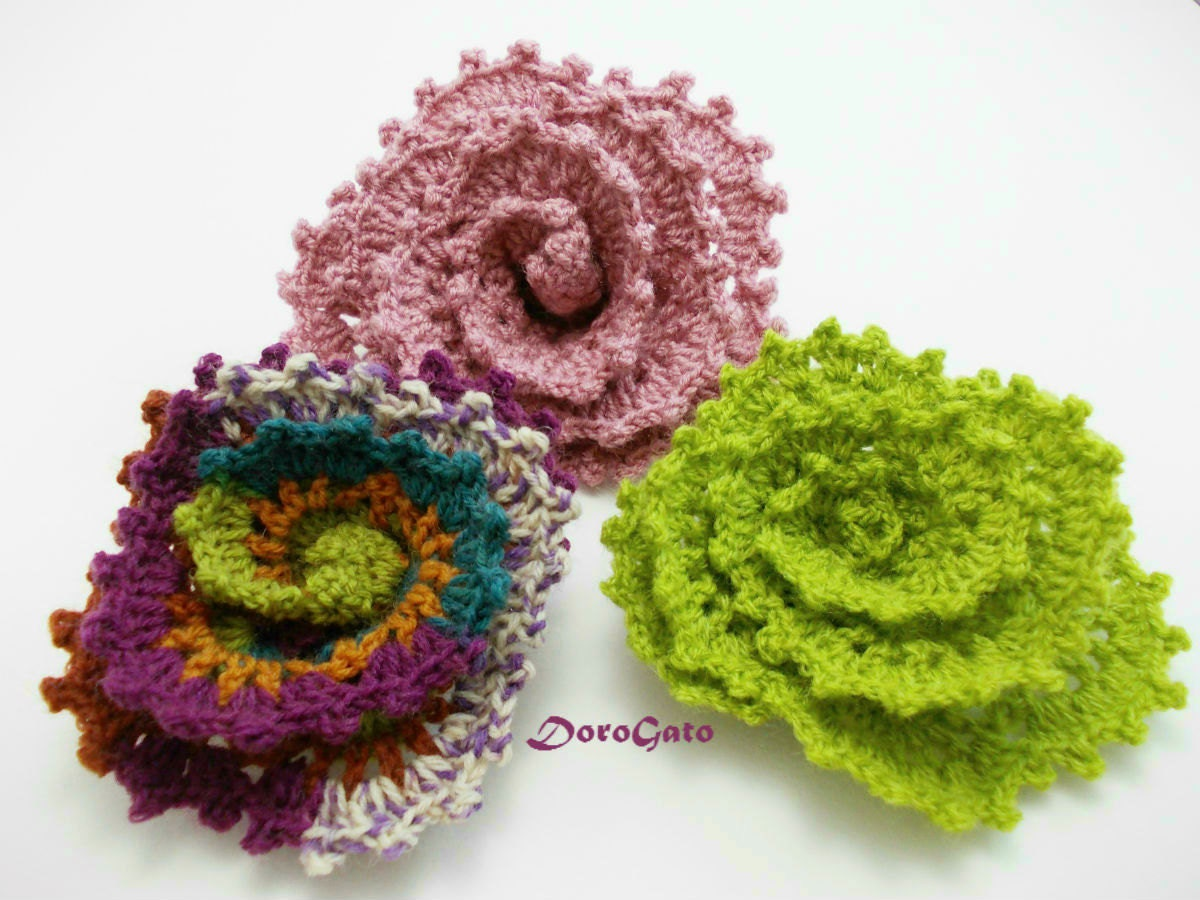 Crochet Patterns Step By Step : Easy crochet flower pattern crochet Tutorial pattern step by