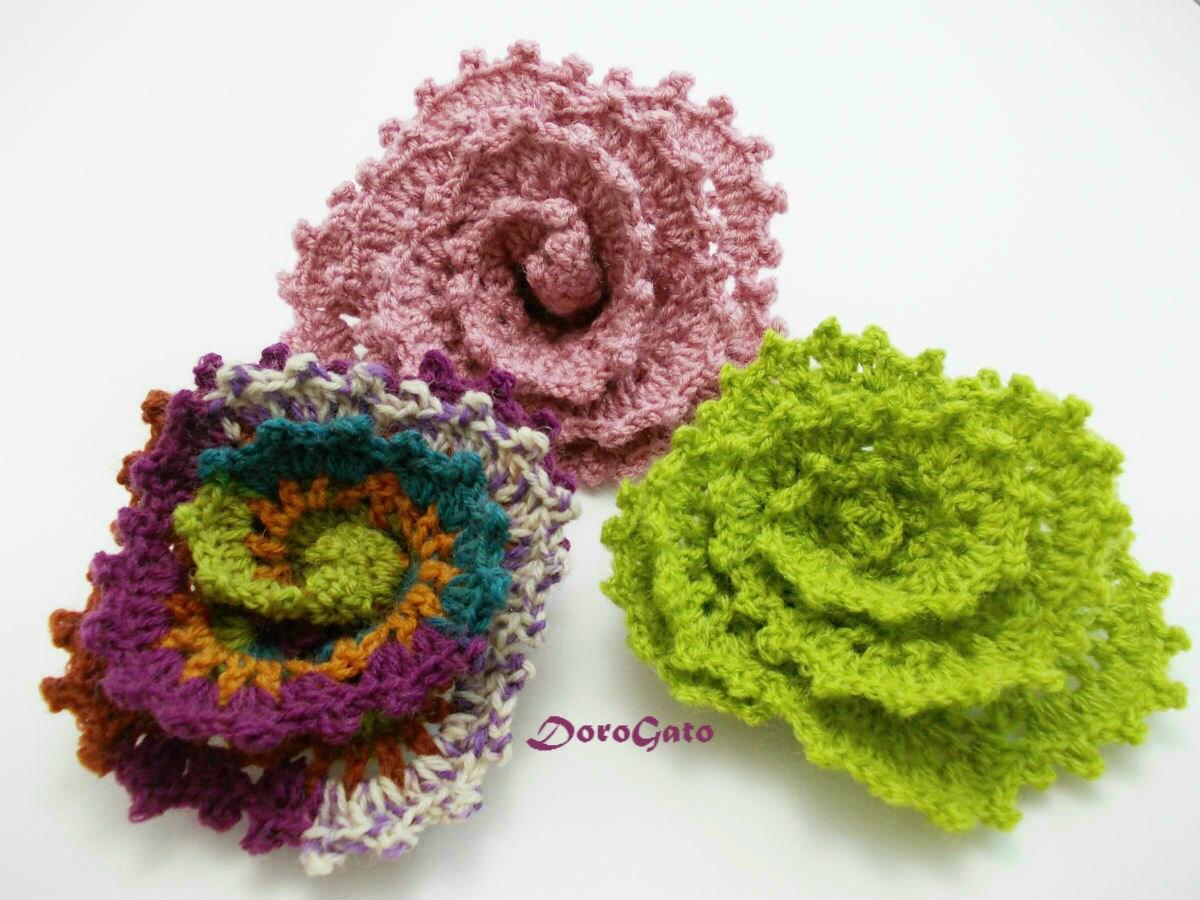Crochet Flower Step By Step Tutorial : Easy crochet flower pattern crochet Tutorial pattern step by