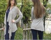 Carefree Cardigan Womens Sewing PDF Pattern by Patterns for Pirates Sizes XXS-PLus 3X Knit, Top, Stylish, Long Short 3/4 Sleeve, shirt tunic