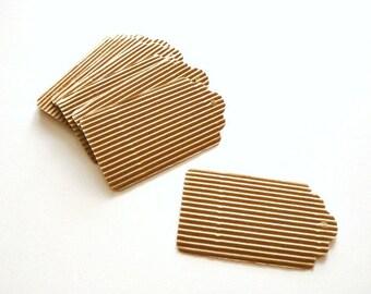 "Kraft tags set ""Corrugated Paper"""
