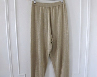 Woven 1970s Gold Pants