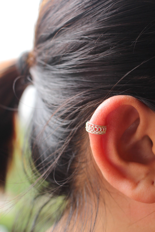 ear cuff sterling silver ear cuff simple ear cuff by. Black Bedroom Furniture Sets. Home Design Ideas
