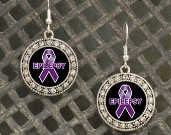 Epilepsy Awareness Earrings