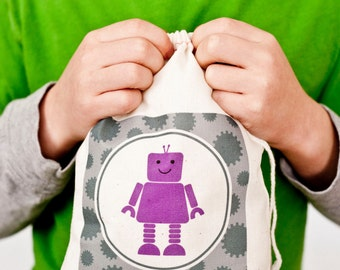 Robot Favor Bags, Robot Party Favor Bags, Robot Personalized Favor Bags, Robot Favor Bags, Robot Party Favor Bags, Robot Party Bags