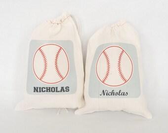Favor Bags, Party Favor Bags, Party Bags, Baseball Personalized Favor Bag, Baseball Party Bags