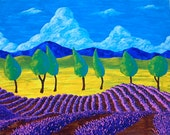 "Lavender In Provence (ORIGINAL ACRYLIC PAINTING) 16"" x 20"" by Mike Kraus"