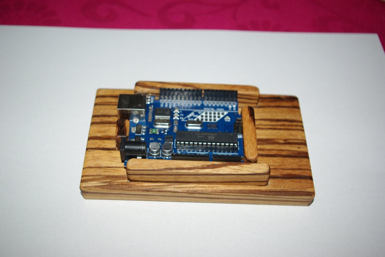 Wooden arduino base wood case board mount holder learn