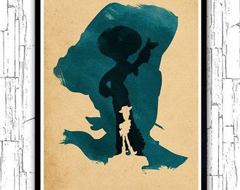 Walt Disney Pixar Toy Story Minimalist Movie Poster