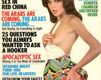 Magazine -  Men Magazine   Nancy Suiter Cover w/brunette wig  Arabs Hookers  China  Lovers  Filth  Lesbian  Wild  Sexy Crazy  mature