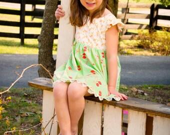 girls dress, girls spring dress, girls Easter dress, girls summer dress, girls sundress size 4, size 5
