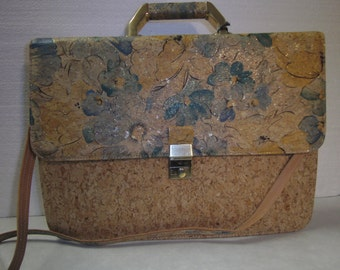 case of Cork and leather, nature, green, yellow, gold, himmeldurchnadeloehr, vintage