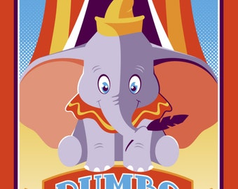 Spectacular High Flying Adventures of Dumbo - 12x24 giclee