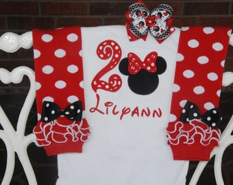 Minnie Mouse First Birthday Outfit! Baby Girl First Birthday Outfit/Red Minnie Mouse 1st Birthday Outfit/First Birthday Outfit/Minnie Mouse