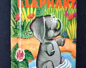 Little Elephant, Junior Elf Book, Vintage Children's Book, 1959