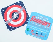 """Printable Avengers Themed Birthday Party Invitation """"The Harrison"""" - Digital Download"""