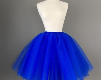 Adult royal blue tutu adult tulle skirt cobalt tutu any size