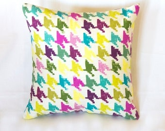 Sale! Colorful Decorative Pillow, Cushion Cover, Cotton Pillow Case, Two Side Cushion Cover, Handmade Pillow Case, Home Decor Pillow