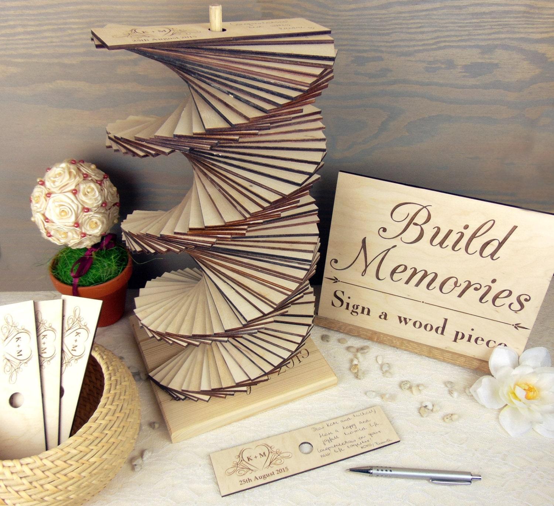 Wedding Memory Book Ideas: Build Memories Wedding Guest Book Custom Wood Wedding