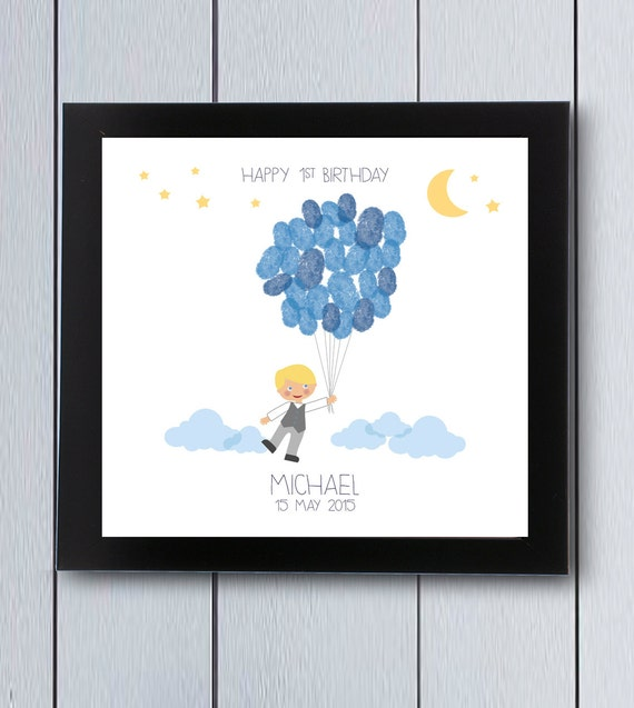 Little Man First Birthday Guest Book / Printable Pdf