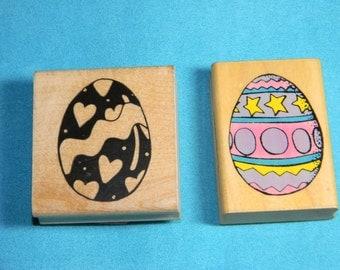 JRL Design & Comotion - 2 Easter Egg Rubber Stamps