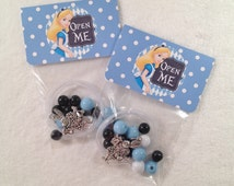 "8 - Alice in Wonderland Un-Birthday or Slumber Party Favor 16"" DIY Necklace Kits - Set of 8"