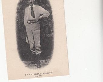 Robert Louis Stevenson At Barbizon France ,from 1876-1880,Photographic Postcard