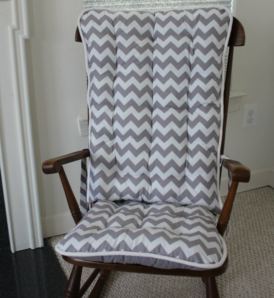Custom Gray Chevron Rocking Chair Cushions Rocking Chair