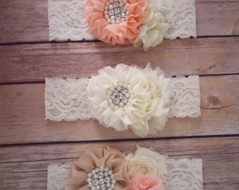Pick your color, Girls Lace Headband,  baby girl headband, Toddler Headband, girls headband, newborn headband, Boutique Headband Easter