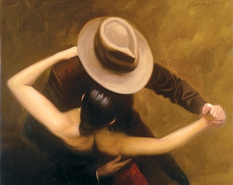 Noche de Tango by Hendrick Gil - Canvas Art Print (12x14)