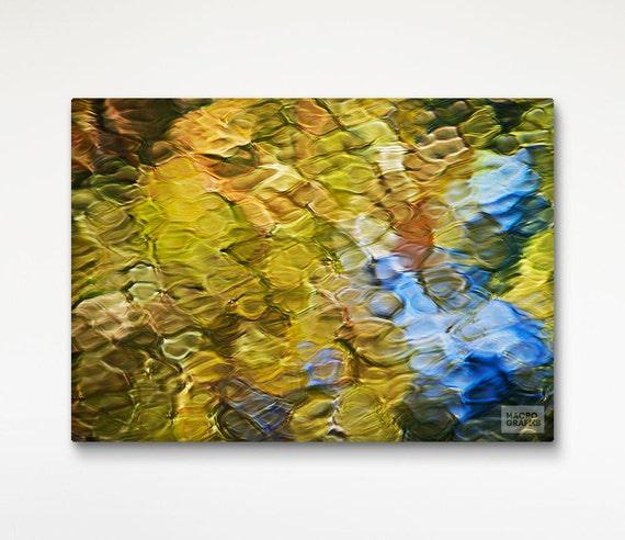 Items similar to Canvas Art Abstract Mosaic, Water ...