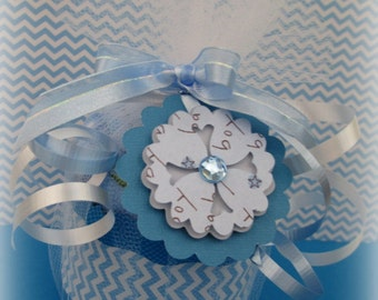 Baby Blanket Cupcakes, Baby Blanket Gift, Baby Shower Gift, Baby Girl Gift, Baby Boy Gift