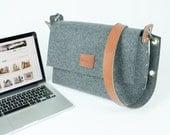 Laptop Messenger Bag Laptop Bag MacBook 13 Bag  Mens Messenger  MBP 13 bag  Felt laptop bag Wool felt messenger laptop bag