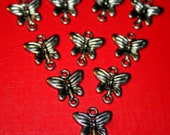 SALE! 20 Mixed Butterfly Connectors, Antique Silver and Antique Bronze finish, butterflies, jewellery connectors, making jewellery